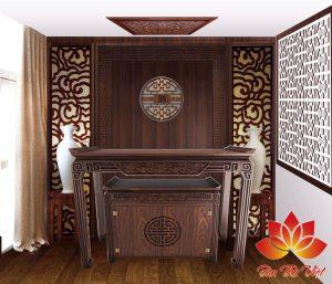 Cách bố trí bàn thờ phòng khách hợp phong thủy gia chủ