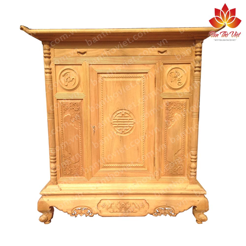 Mẫu tủ thờ xoan đào Đẹp - Giá rẻ - Thiết kế chuẩn Lỗ Ban