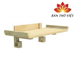 Mẫu bàn thờ treo tường bằng gỗ mít đẹp