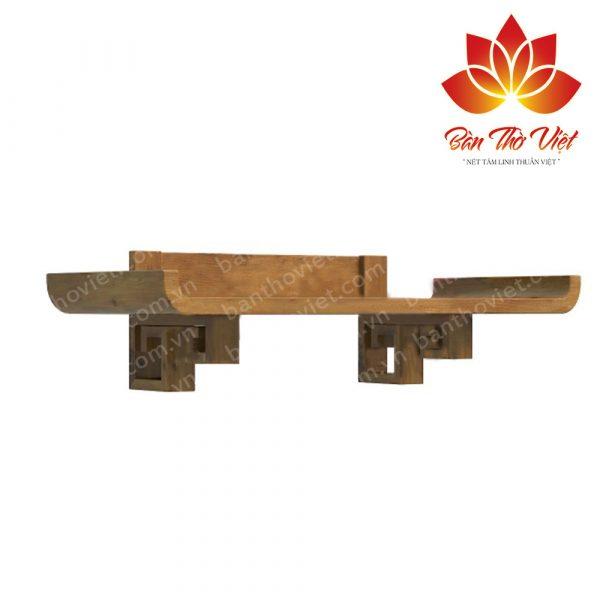 Mẫu thiết kế bàn thờ treo tường hiện đại 05 gỗ hương
