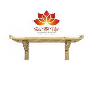 Mẫu bàn thờ treo tường gỗ hương thiết kế đơn giản