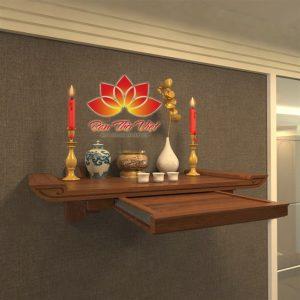 Mẫu bàn thờ treo phòng khách đẹp cho chung cư hiện đại