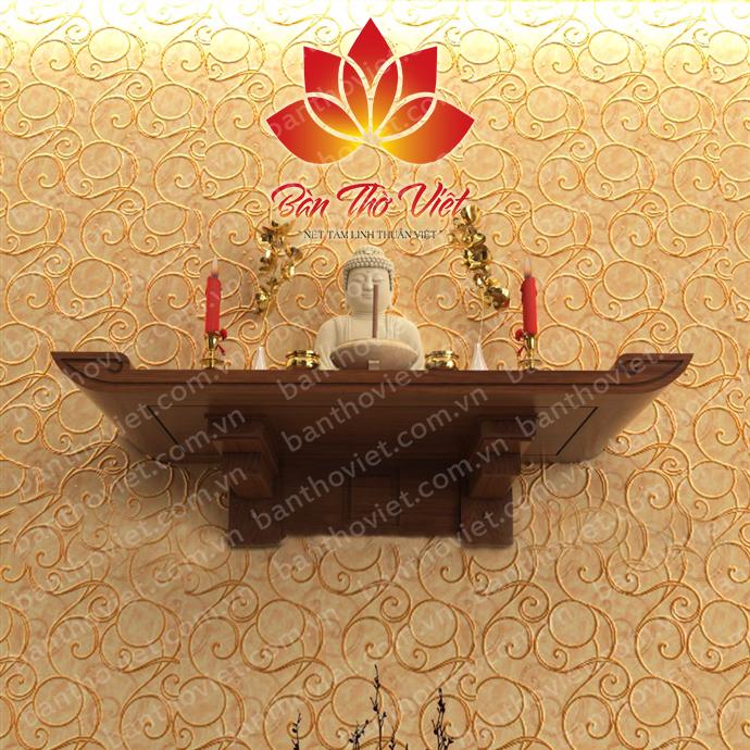 Mẫu bàn thờ treo tường chung cư dùng để thờ Phật