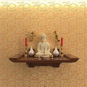 Mẫu bàn thờ treo tường giá rẻ tại Hà Nội mã 03 giá 3.500.000đ