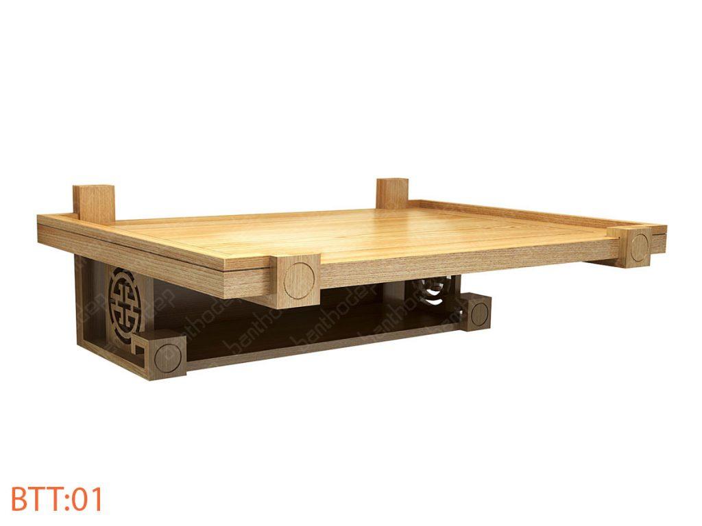 Kích thước bàn thờ tường theo phong thủy mang lại may mắn, cát lợi