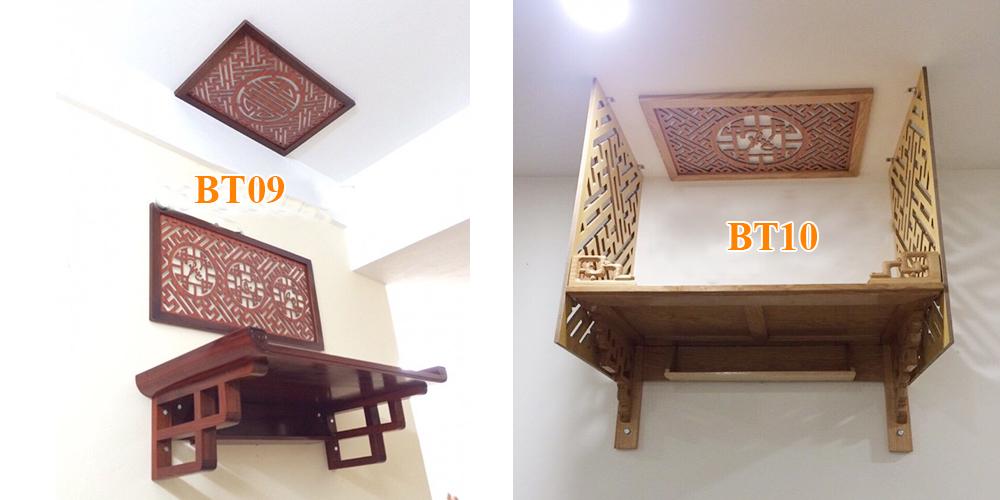 Các mẫu bàn thờ treo tường chung cư Hiện đại - Rước lộc vào nhà