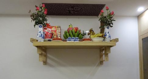 Các vị trí đặt bàn thờ treo tường đẹp cho nhà chung cư và nhà tầng