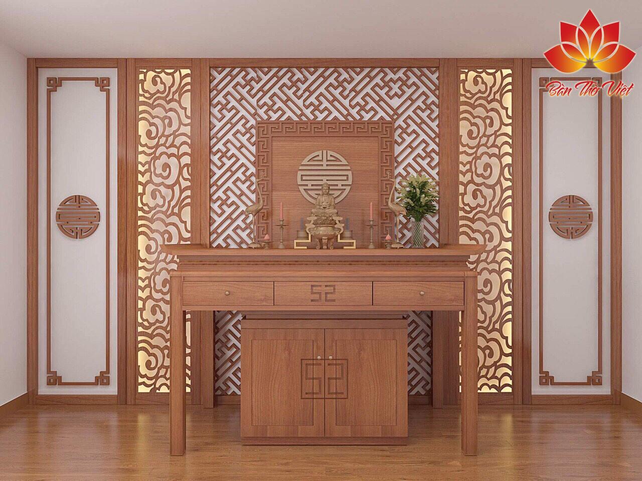 Cách bài trí tủ thờ Phật Bà Quan Âm Đúng Chuẩn phong thủy